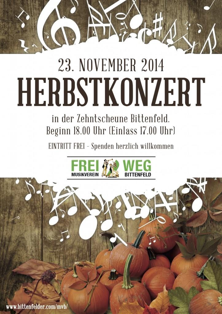 Herbstkonzert 2014
