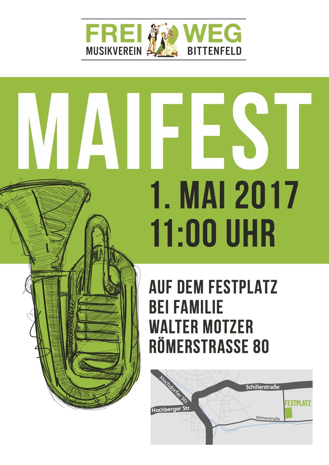 Maifest 2017 Musikverein Frei Weg Bittenfeld E V